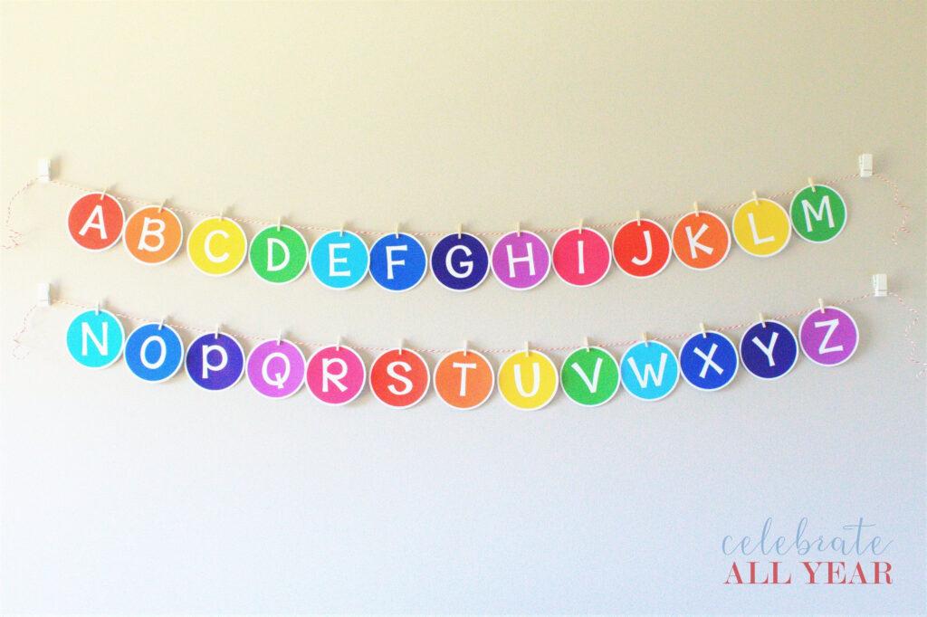 Printable Classroom Alphabet Banner | Etsy In 2020