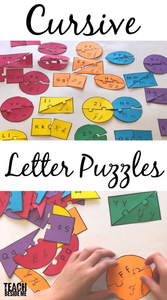 Printable Cursive Letter Puzzles | Learning Cursive