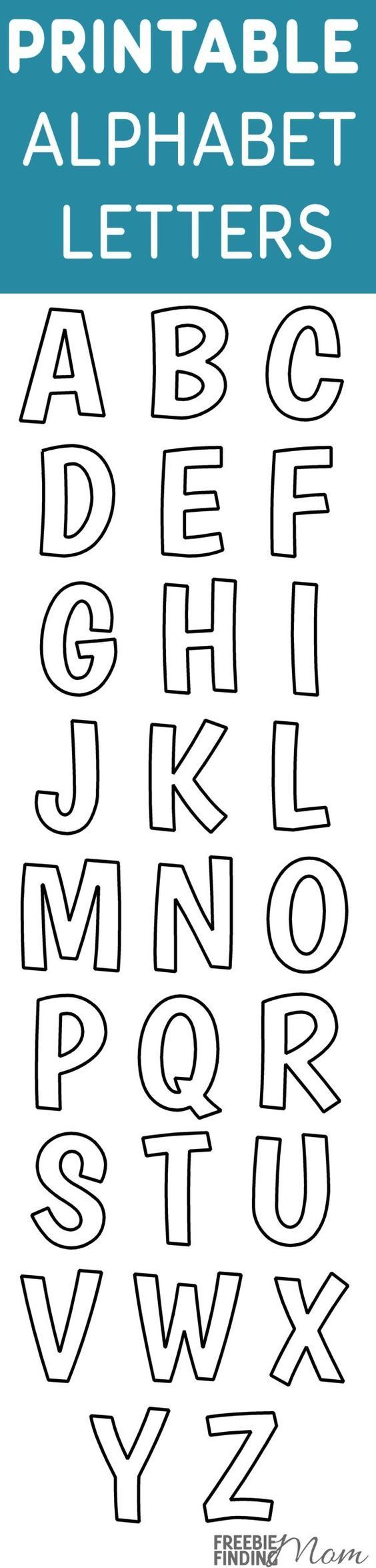 Printable Free Alphabet Templates | Alphabet Templates inside Alphabet Tracing Stencils