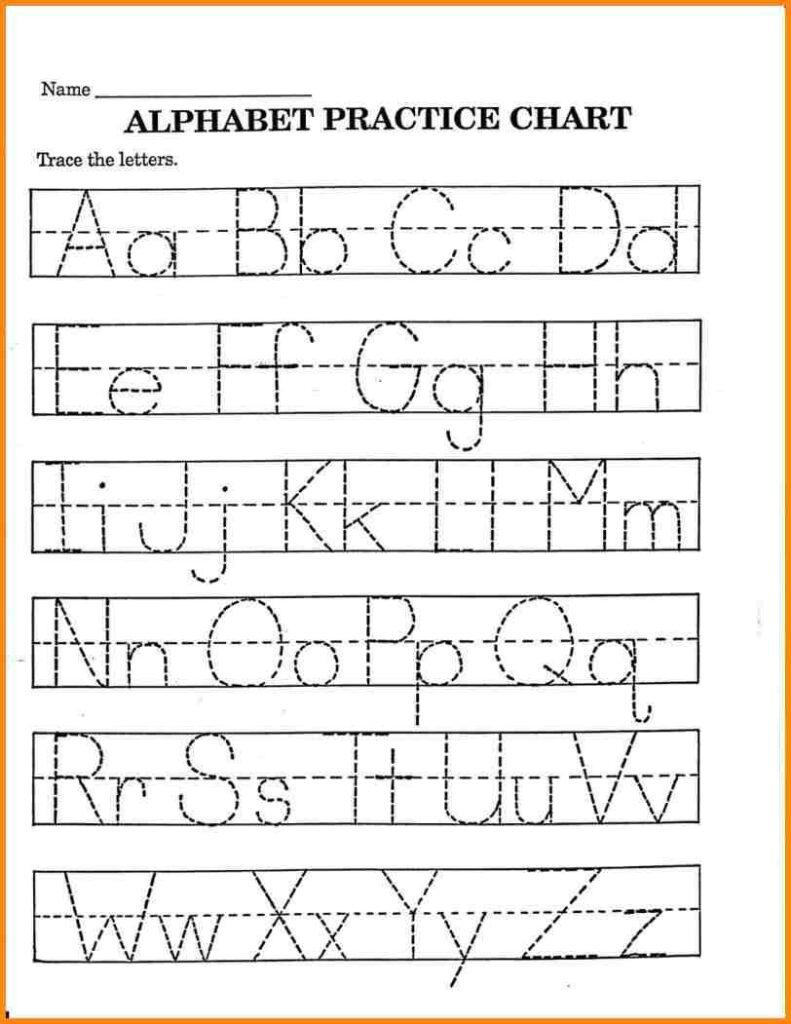 Printable Kindergarten Worksheets Alphabet Handwriting Throughout Pre K Worksheets Alphabet Tracing