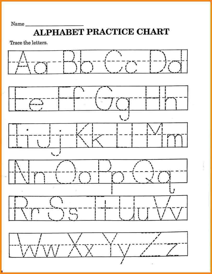 Printable Kindergarten Worksheets Alphabet Handwriting throughout Pre-K Worksheets Alphabet Tracing