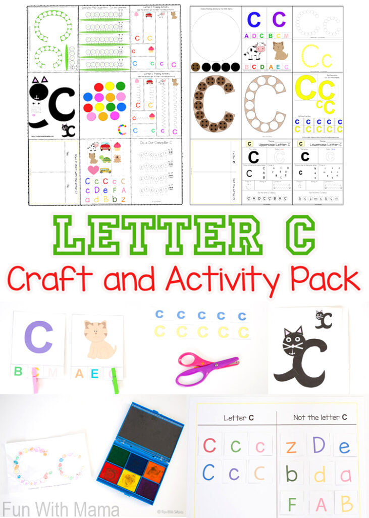 Printable Letter C Crafts And Activities   Fun With Mama For Letter C Worksheets For 3 Year Olds
