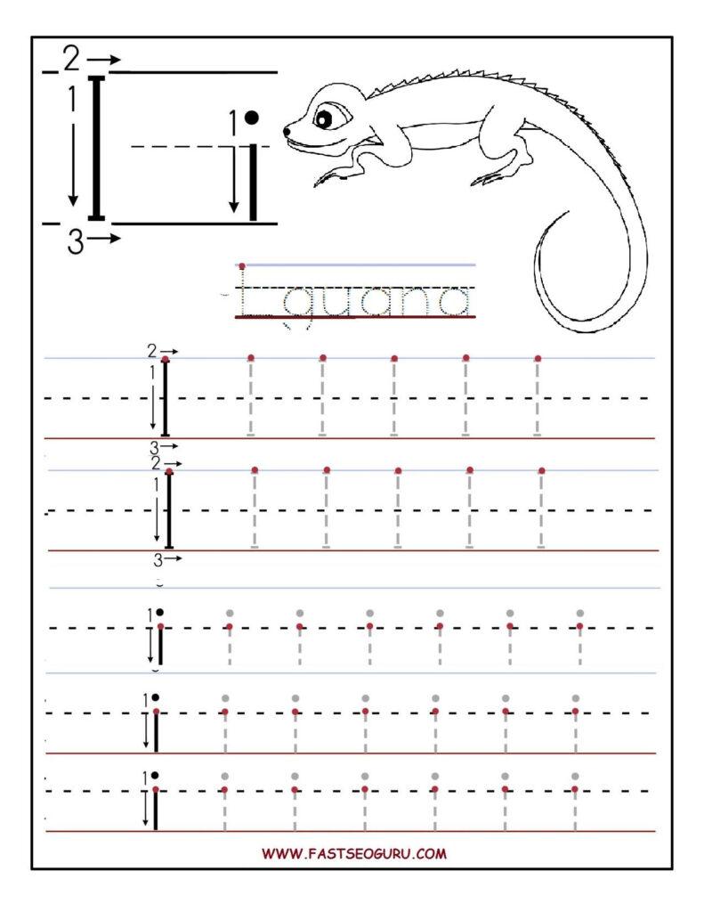 Printable Letter I Tracing Worksheets For Preschool With Letter I Tracing Worksheets Preschool