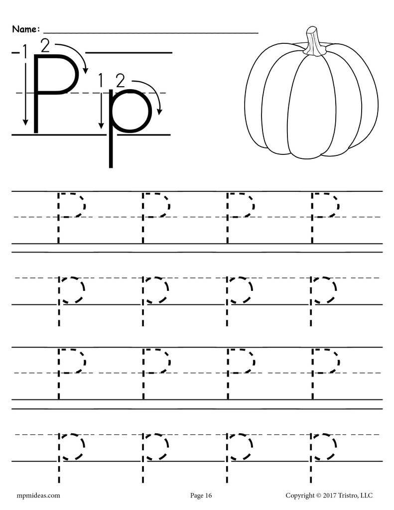 Printable Letter P Tracing Worksheet! | Letter P Worksheets intended for Letter P Tracing Worksheets For Preschool