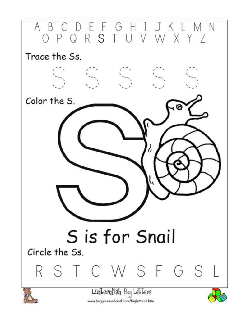 Printable Letter S Worksheets | Letter S Worksheets, Kids For Letter S Worksheets Free Printables