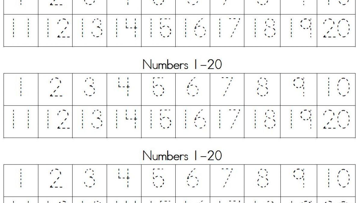 Printable Number Tracing Worksheets