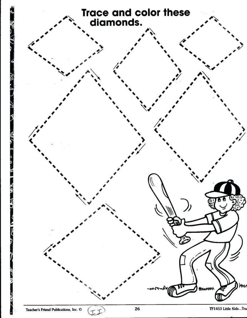 Printable Preschool Worksheets Diamond Harryatkins For
