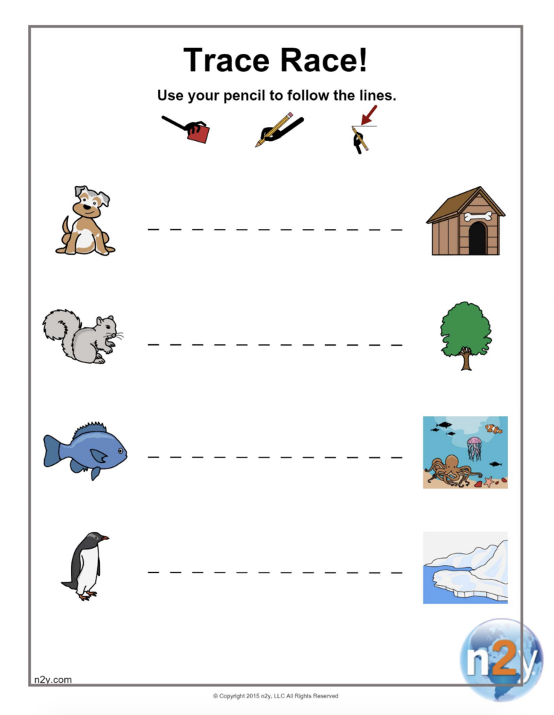 Printable Tracing Fun! Trace Horizontal Lines Left To Right