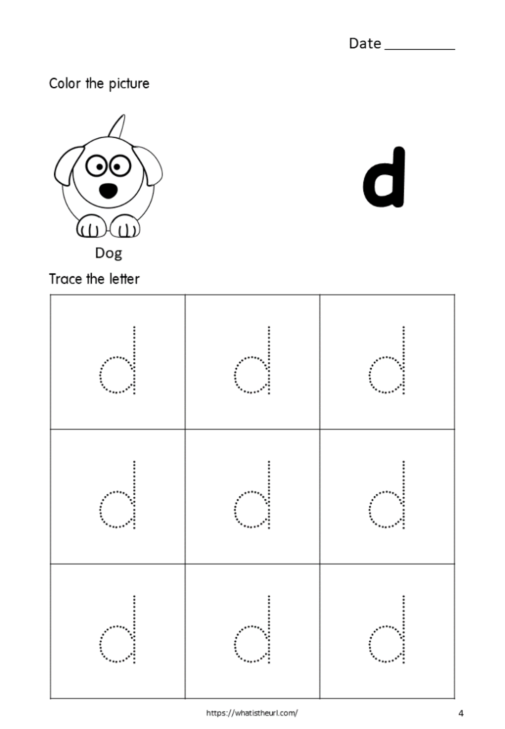 Printable Tracing Letters Small Letter D For Kids   Your Pertaining To Letter Tracing D