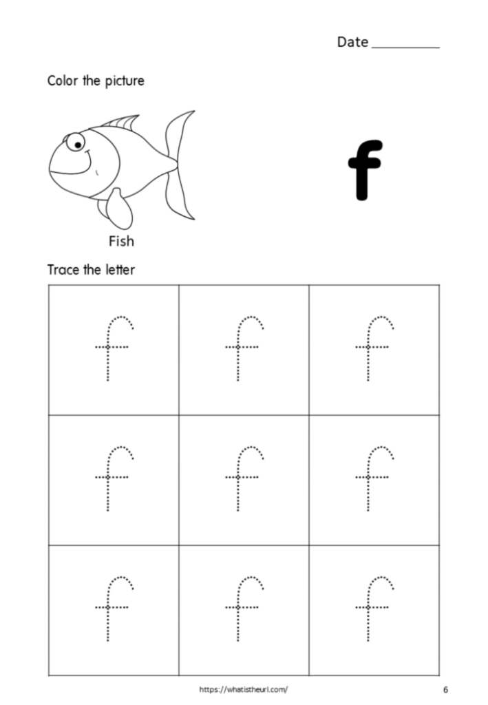 Printable Tracing Letters Small Letter F For Kids   Your Within Letter F Tracing Printable