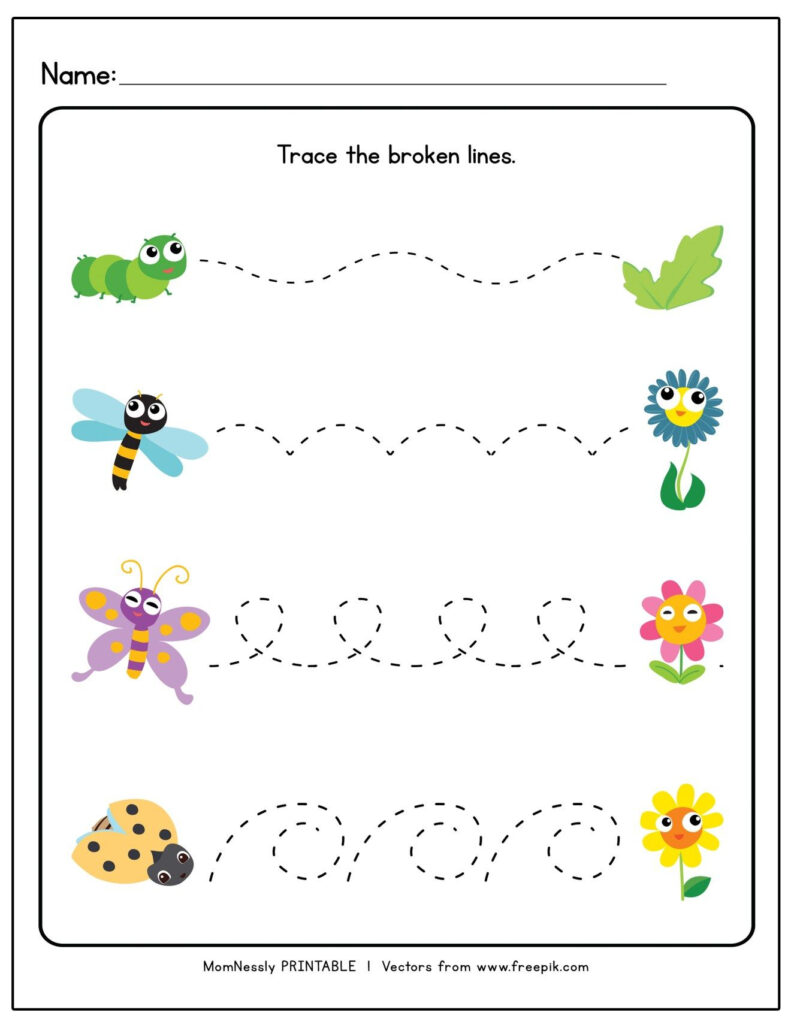 Printable: Tracing Lines Worksheets In 2020   Tracing