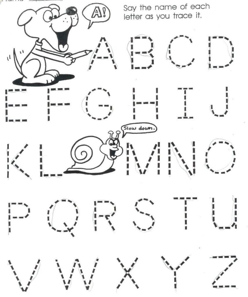 Printable Tracing Worksheet For 3 Years Old | Printable