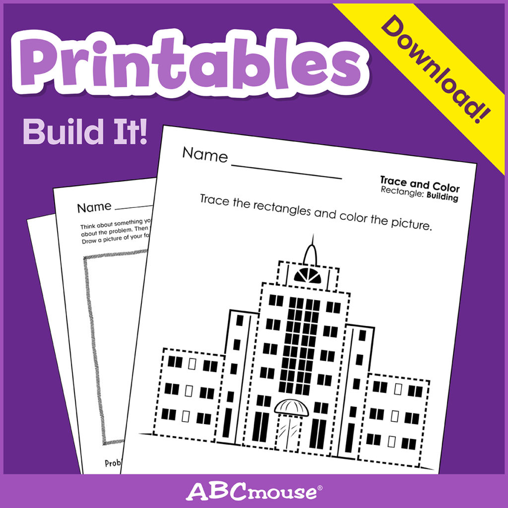 Printables: Build It - Learn@home Learn@home inside Name Tracing On Abcmouse
