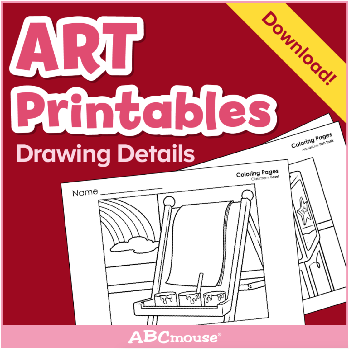 """Printables: Drawing Details""""abcmouse In 2020 throughout Name Tracing On Abcmouse"""