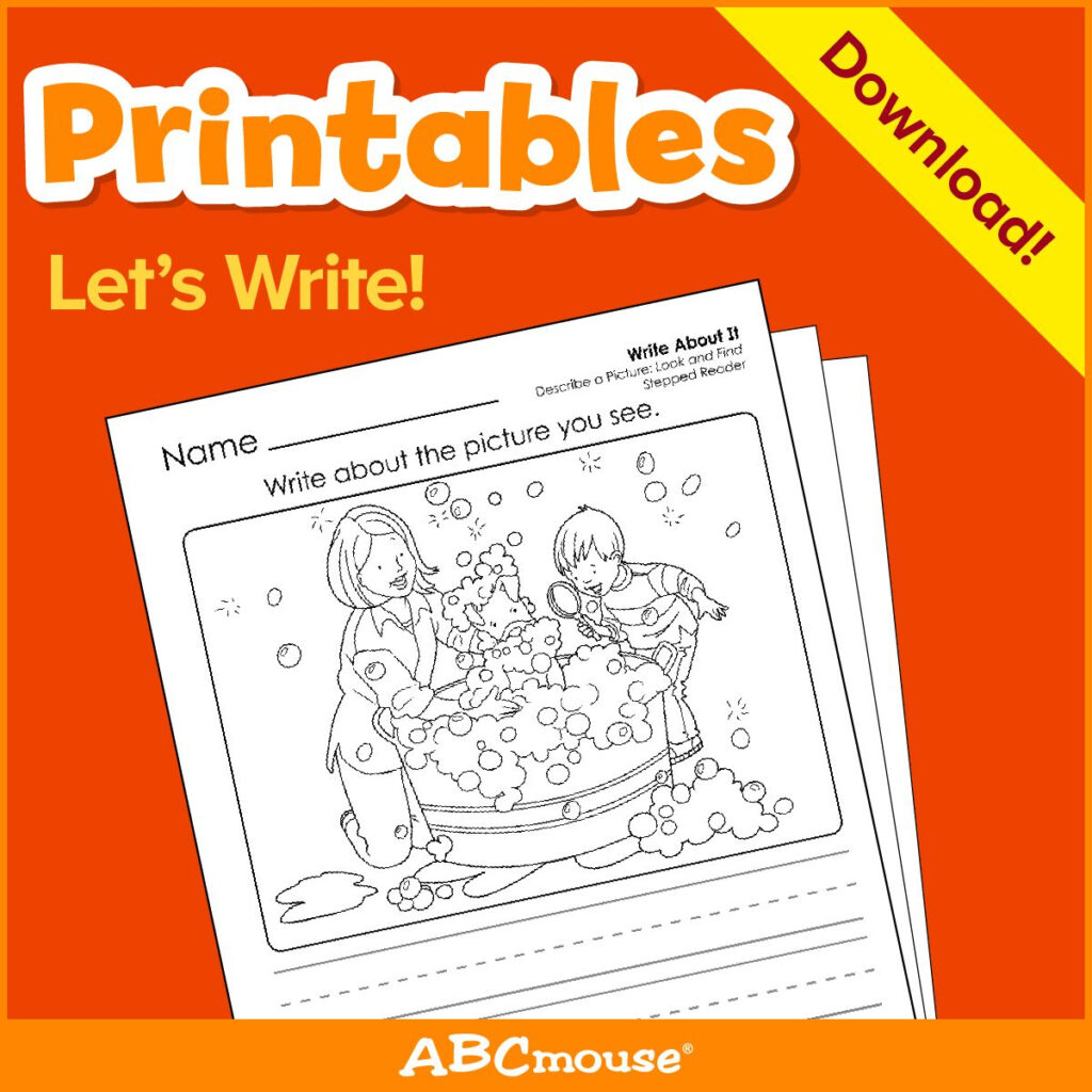 "Printables: Let's Write""abcmouse In 2020 
