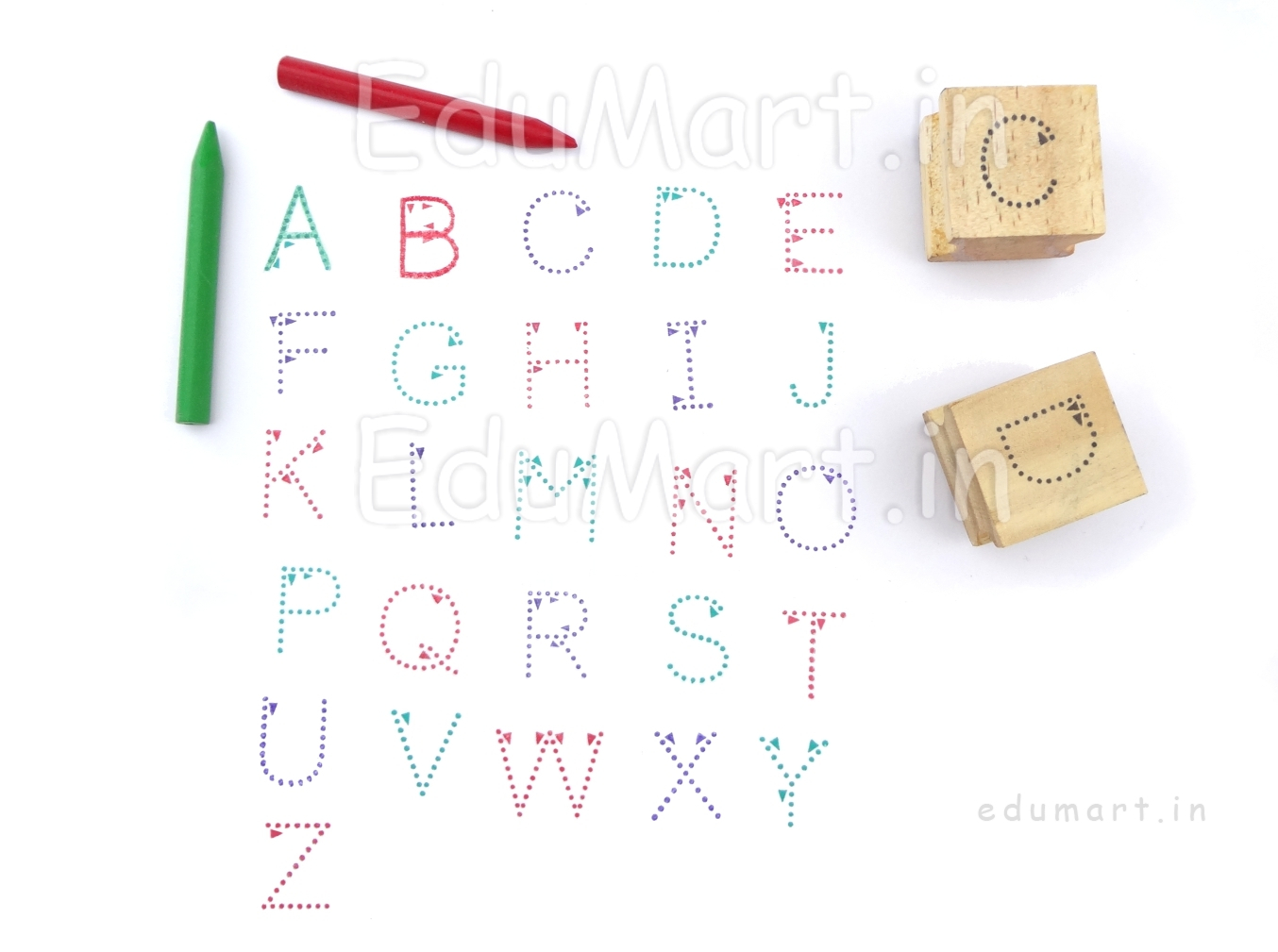 Product|Language Rubber Stamps|Upper Case Alphabet Rubber pertaining to Alphabet Tracing Stamps