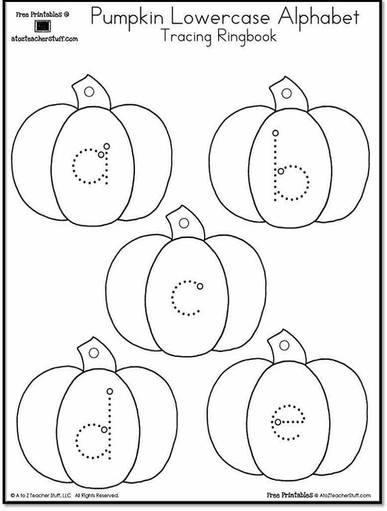 Pumpkin Lowercase And Uppercase Tracing Alphabet   A To Z
