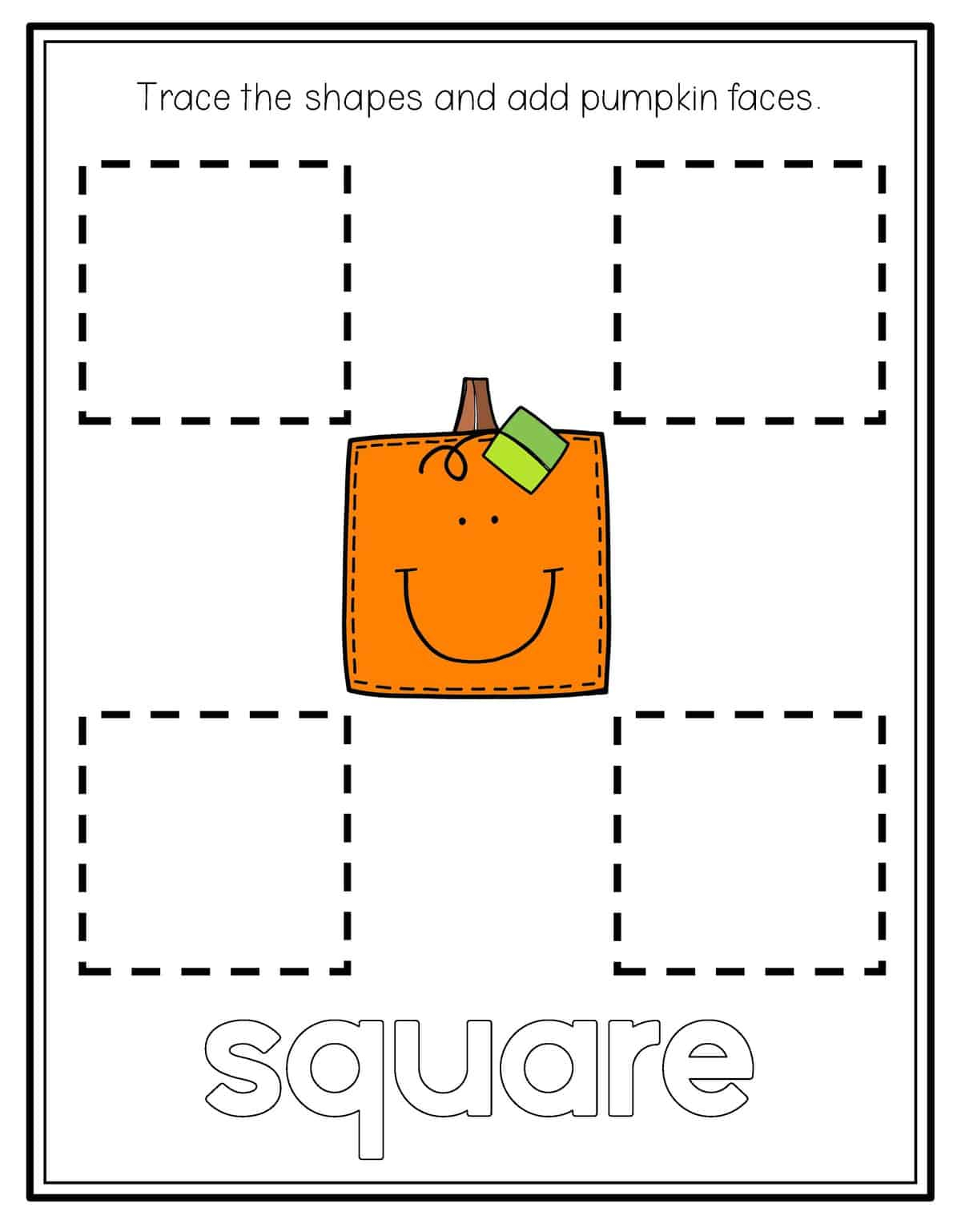 Pumpkin Shape Tracing - Preschool Mom