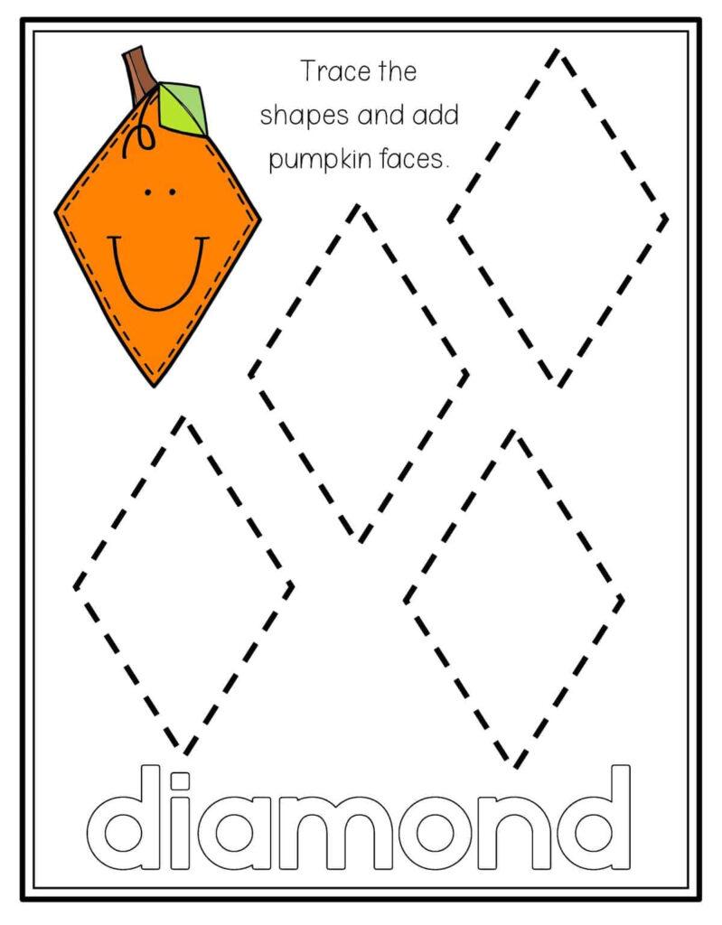 Pumpkin Shape Tracing   Preschool Mom
