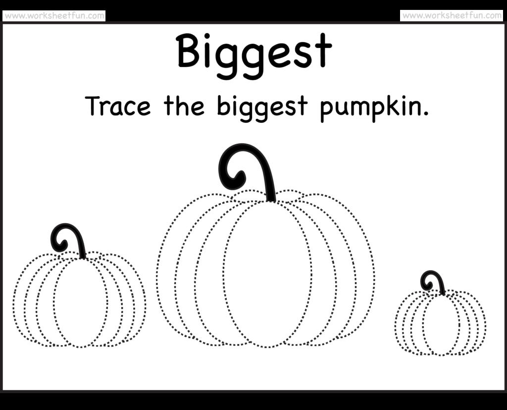 Pumpkin Tracing – 2 Worksheets / Free Printable Worksheets