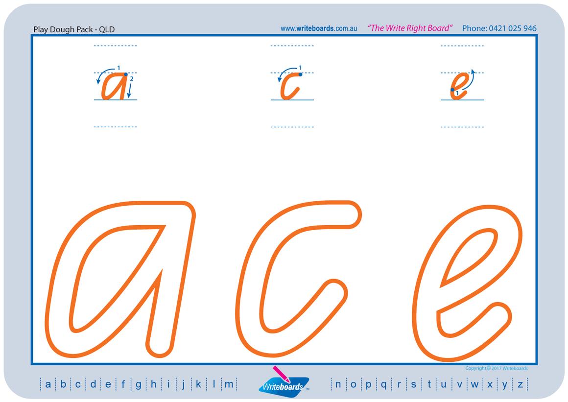 Qld Modern Cursive Font Handwriting Worksheets,teaching