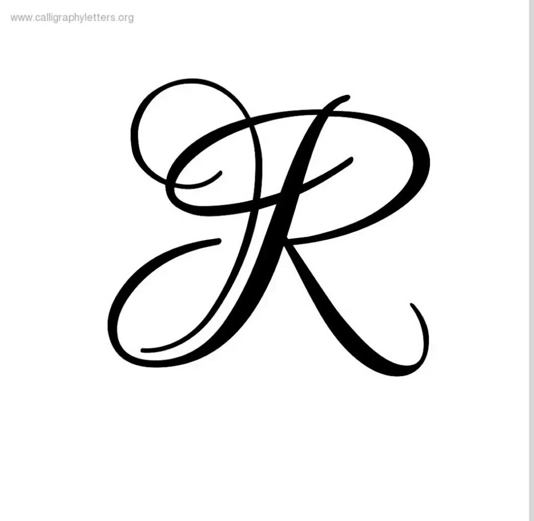 R Letter | Lettering Styles, Letter R Tattoo, Cursive R