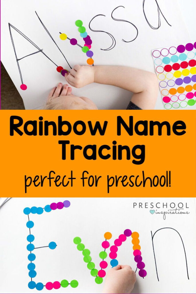 Rainbow Name Tracing Activity In 2020 | Educational In Preschool Name Tracing Ideas