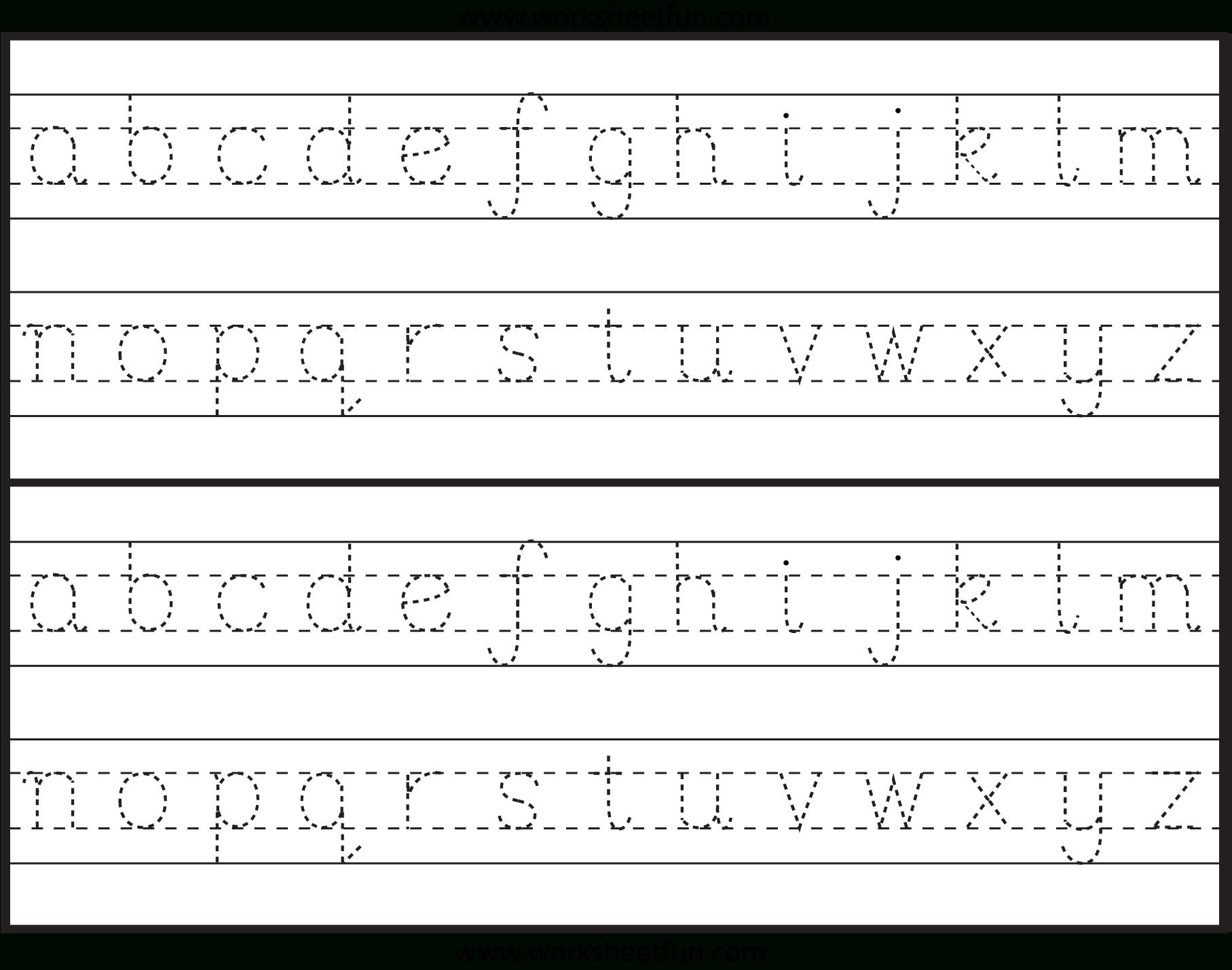 Reading Worksheets Alphabet Tracing Pdf Name Worksheet within Pre-K Worksheets Alphabet Tracing