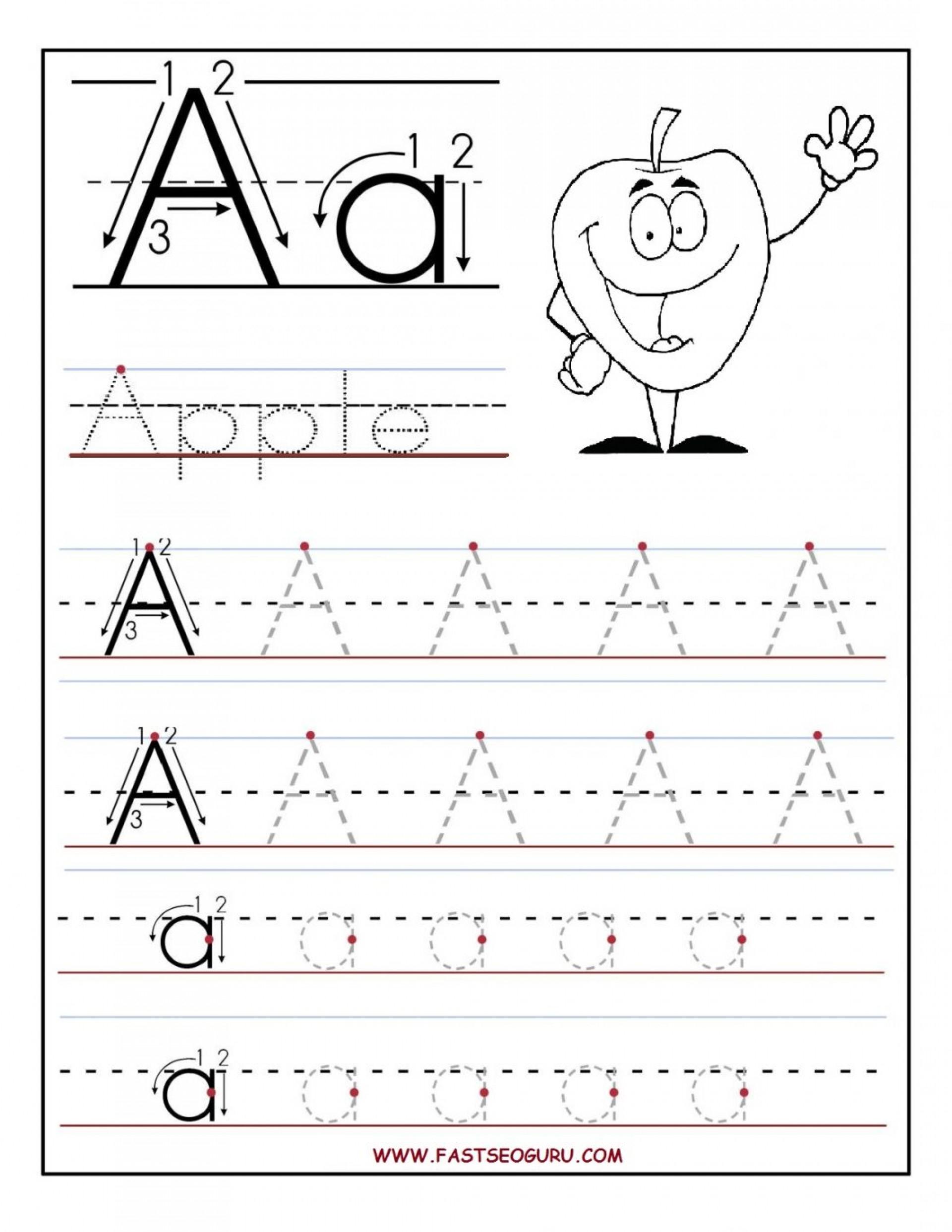 Reading Worksheets Free Printing For Kindergarten Worksheet intended for Alphabet Tracing For Kindergarten