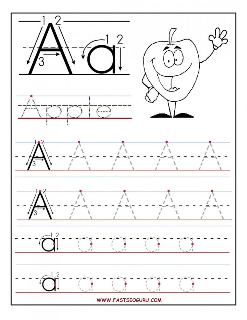 Reading Worksheets Free Printing For Kindergarten Worksheet Within Alphabet Tracing Letters Worksheet