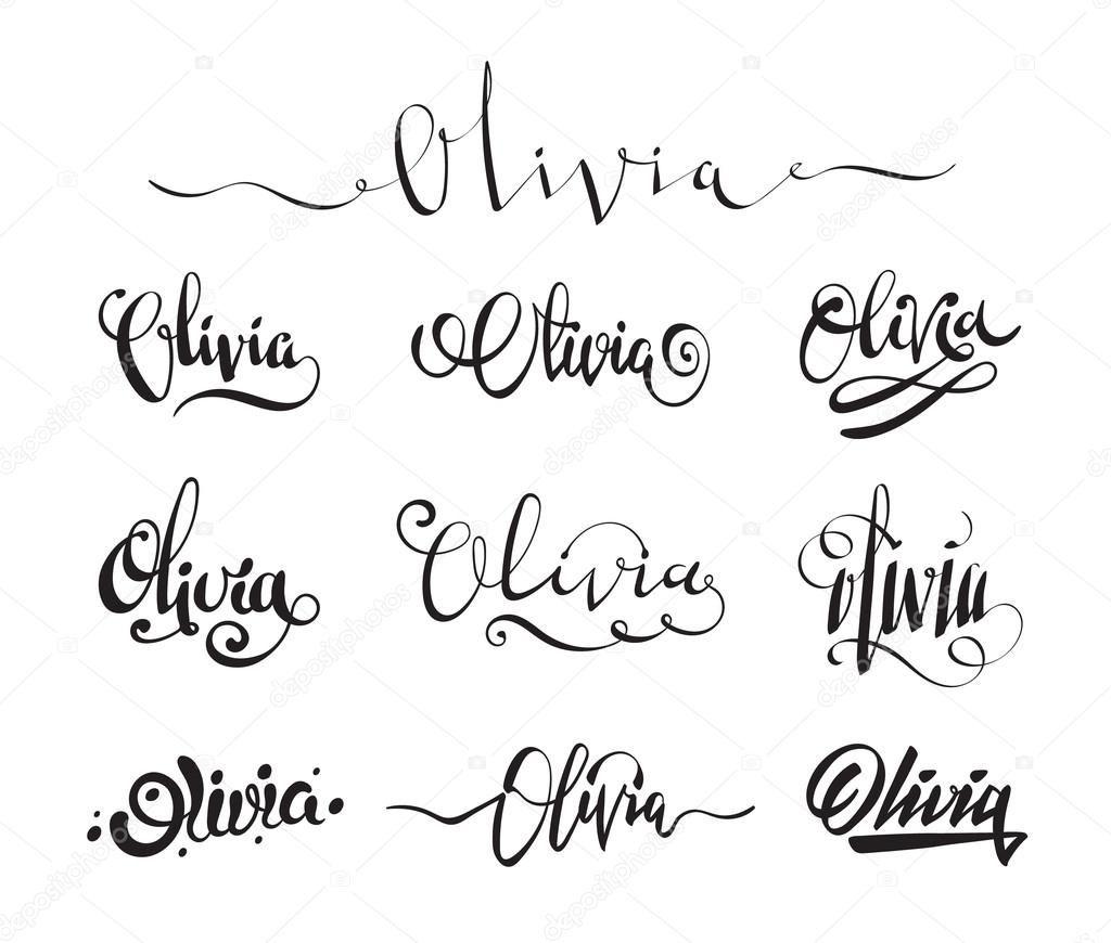 Resultado De Imagen Para Tattoos Of The Name Olivia throughout Name Tracing Olivia