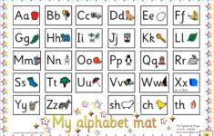Cursive Alphabet Mat