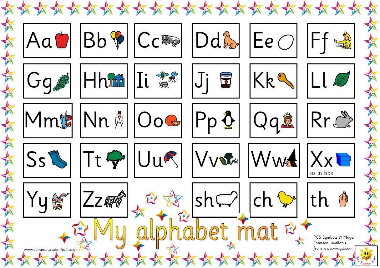 Reversible Alphabet Mat: Sassoon Or Cursive Versions