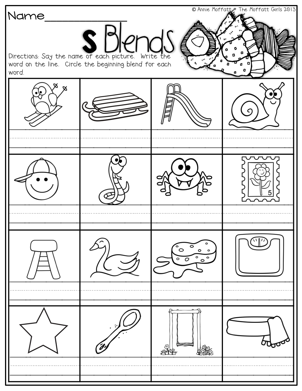 S Blends! | Blends Worksheets, Phonics Blends, 1St Grade Blends throughout Letter S Worksheets For First Grade