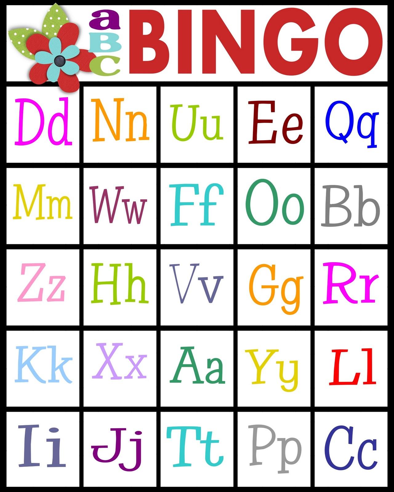 Sassy Sanctuary: Abc's Bingo- Free Printable! inside Alphabet Bingo Worksheets