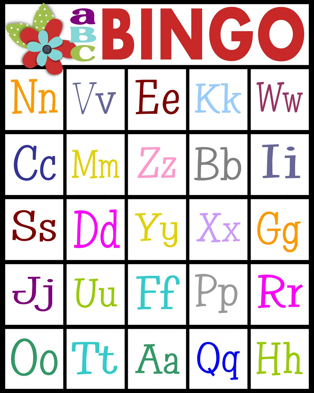 Sassy Sanctuary: Abc's Bingo- Free Printable! with Alphabet Bingo Worksheets