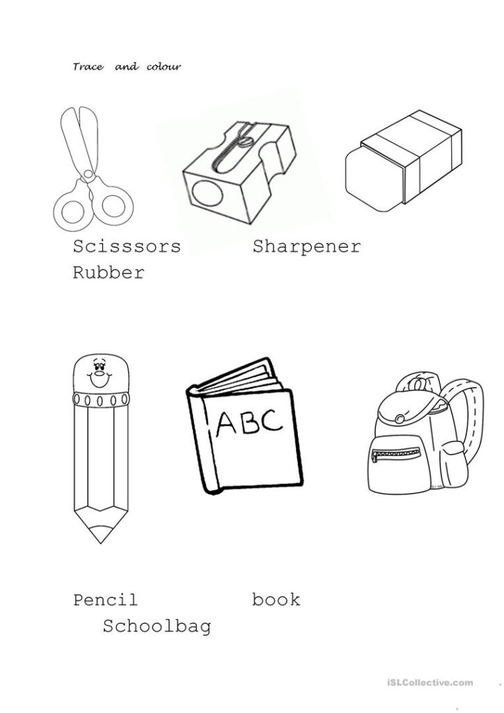 School Objects   English Esl Worksheets For Distance