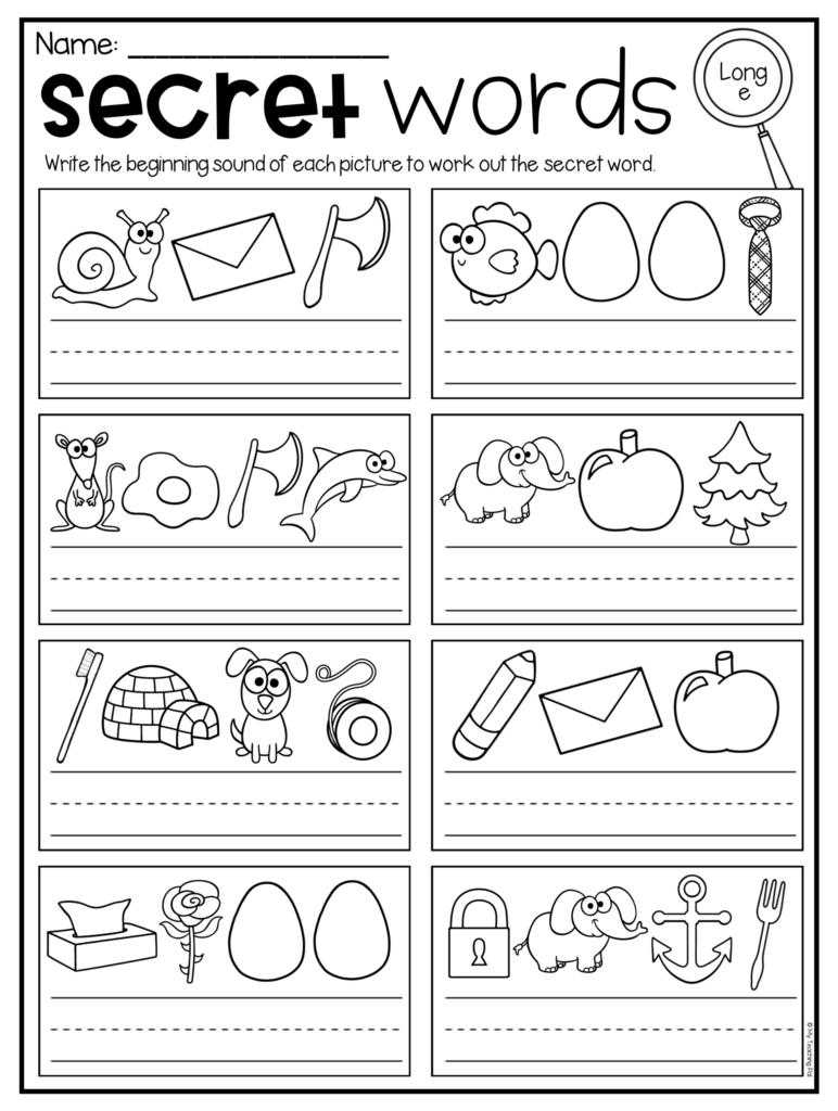 Secret Words Worksheets   Cvc, Short Vowels And Long Vowels