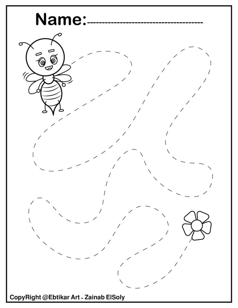 Set Of Fine Motor Tracing Activity Name Practice Activites