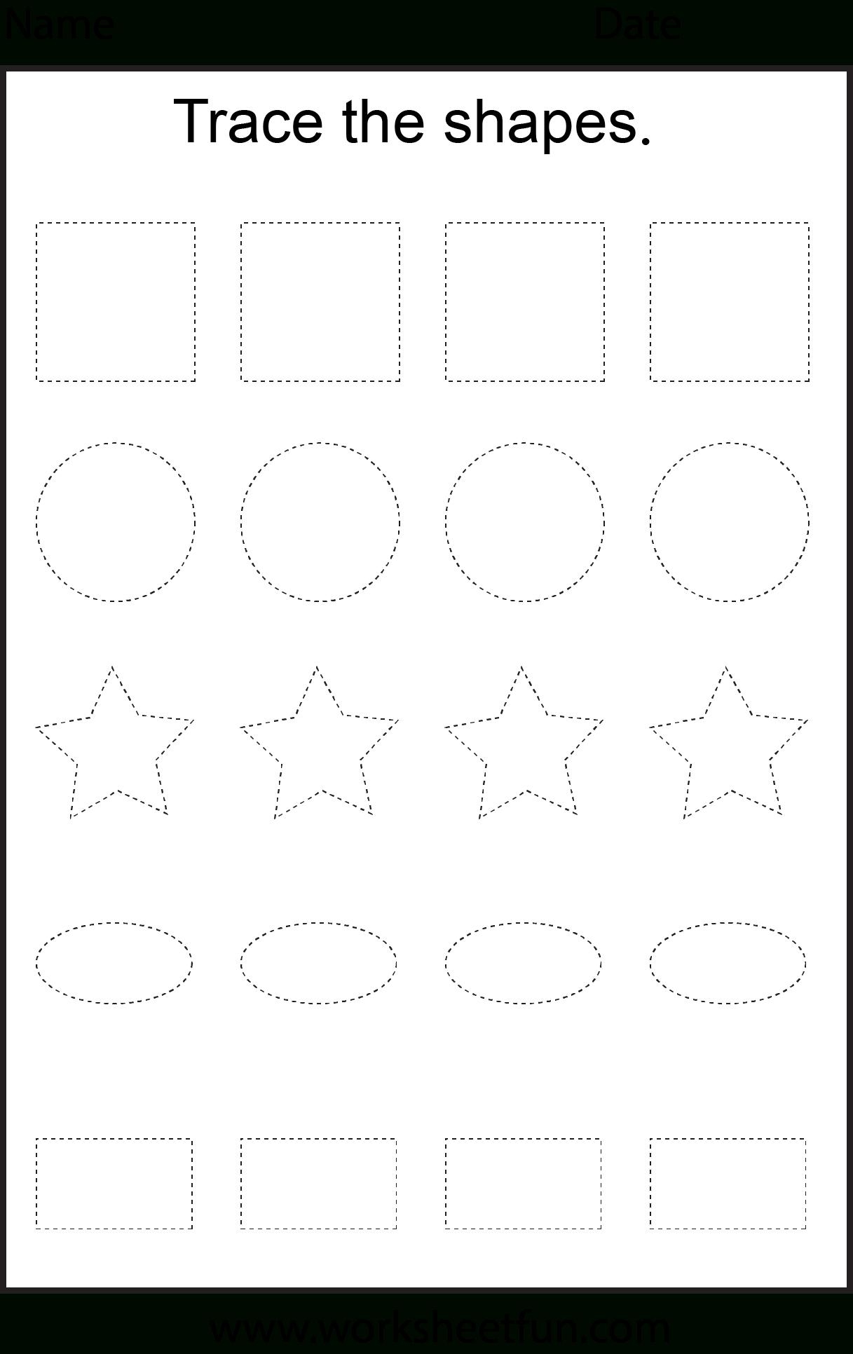 Shape Tracing – 3 Worksheets | Shape Tracing Worksheets