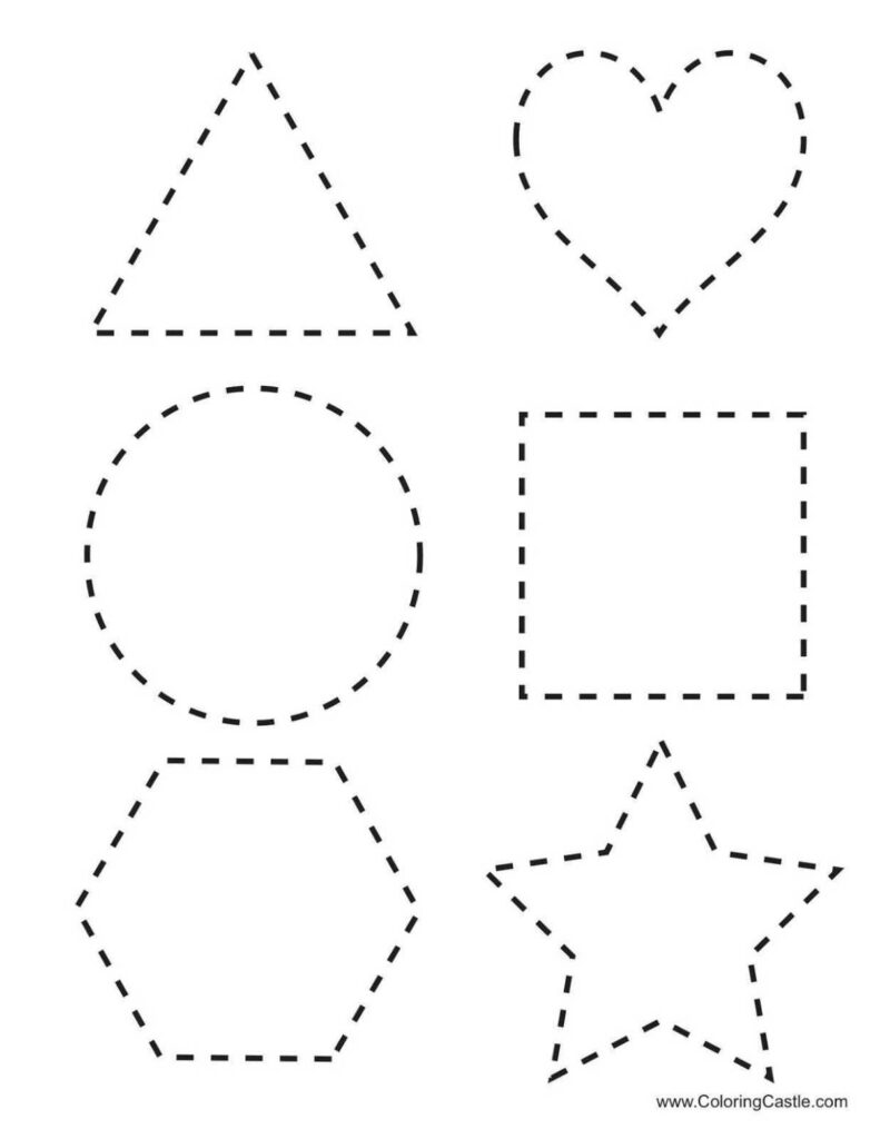 Shape Tracing Worksheets For Learning Free Analytic Geometry