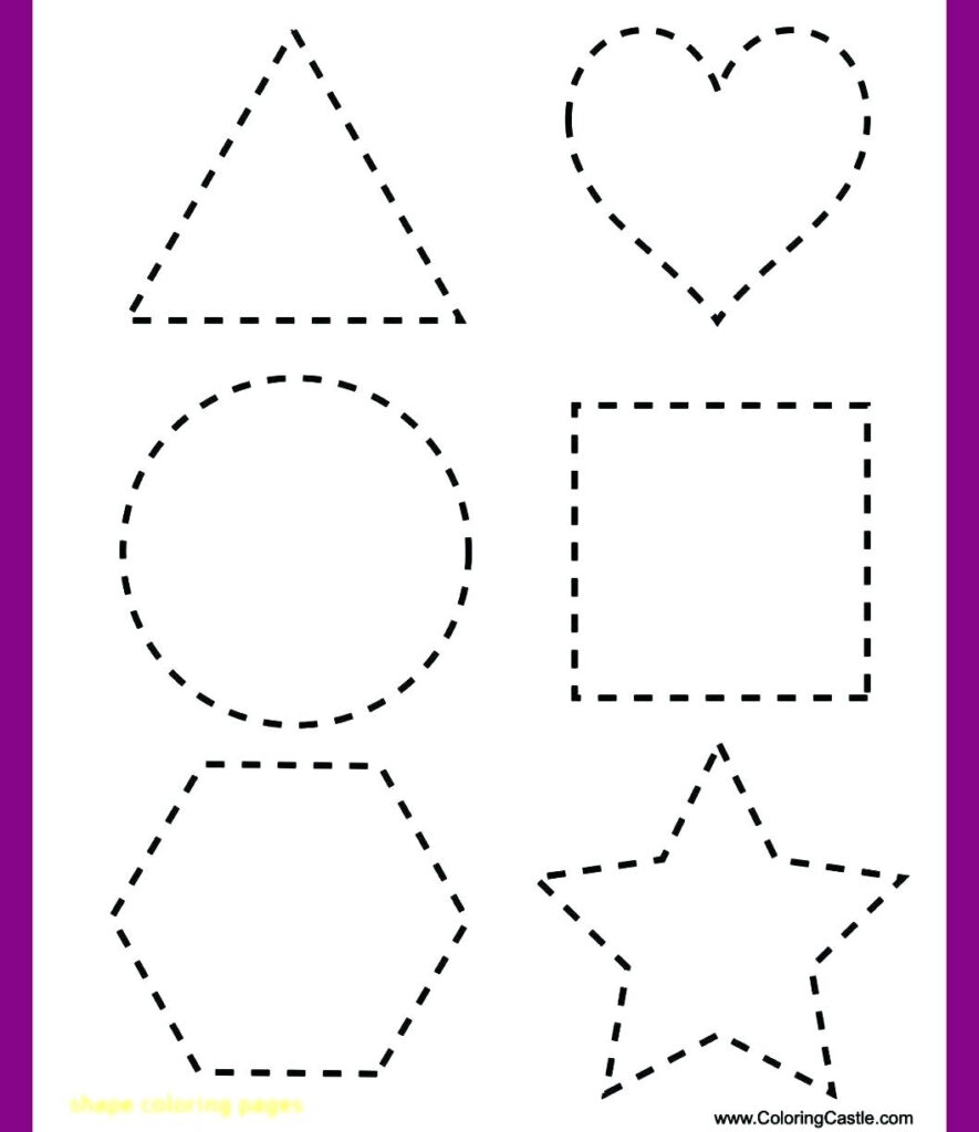 Shape Tracing Worksheets To You. Shape Tracing Worksheets
