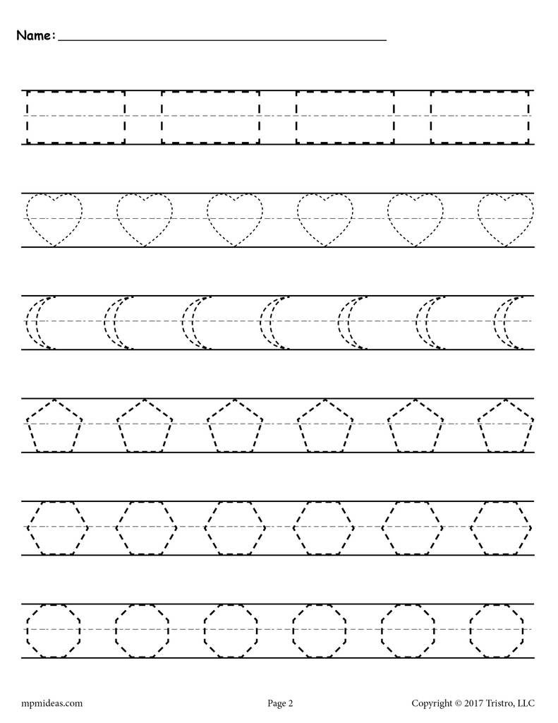 Shapes Tracing Worksheets | Tracing Worksheets, Shape inside Tracing Name Madison