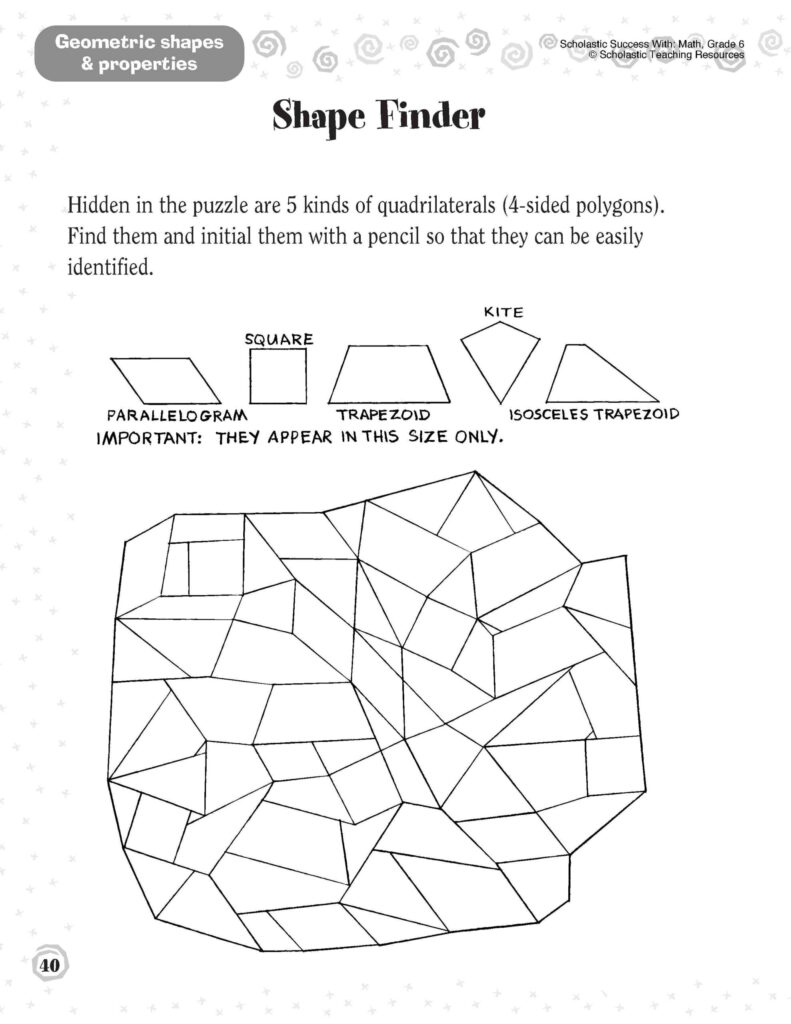Shapes Worksheets 1St Grade Printable And Activities Math 1