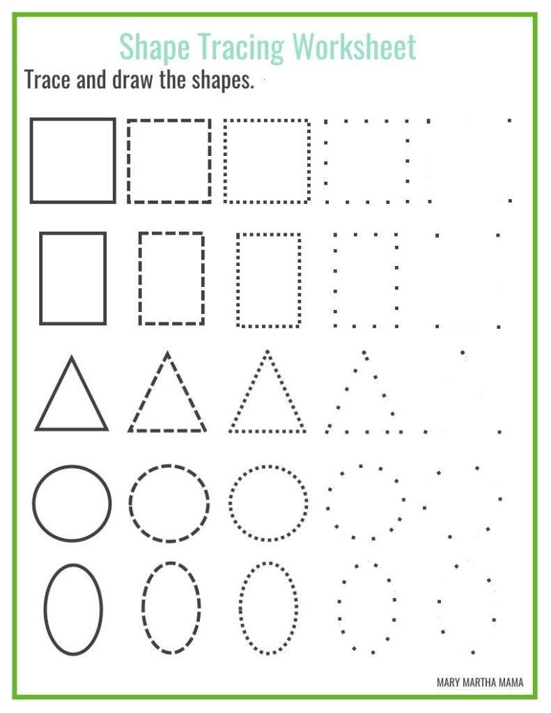 Shapes Worksheets For Preschool Free Printables Shape