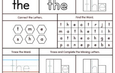 Sight Words Tracing Worksheets For Kindergarten