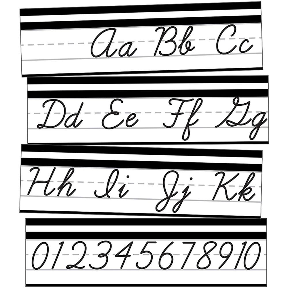 Simply Stylish Alphabet Line: Cursive Mini Bulletin Board Set