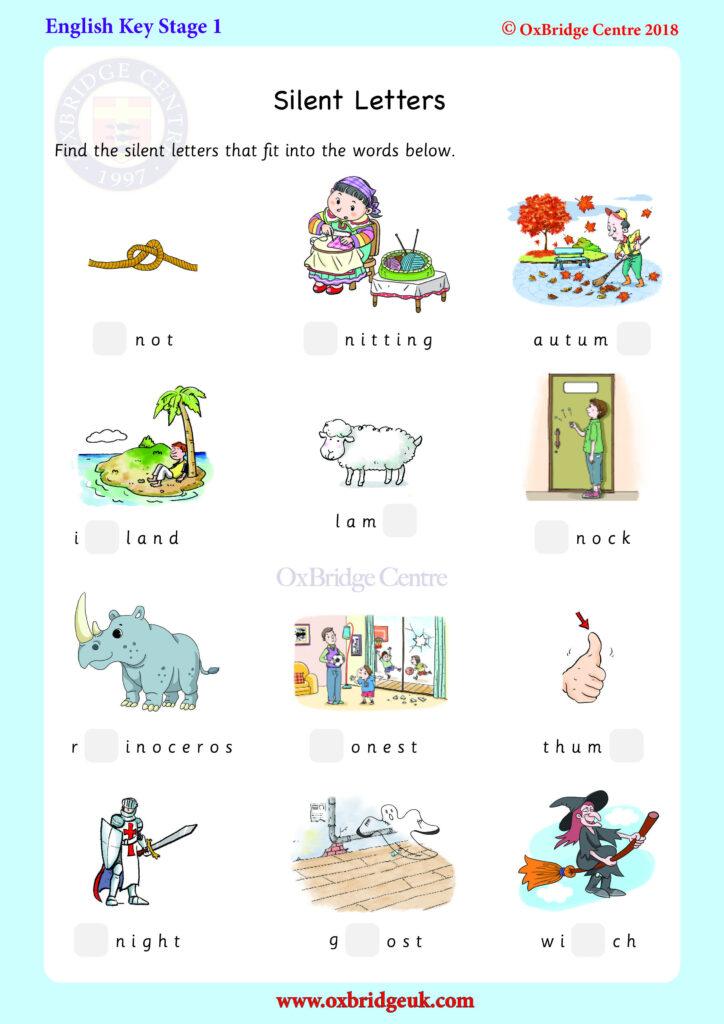 Spelling: Silent Letters In 2020 | Ks1, Worksheets Free, Letters Inside Key Stage 1 Alphabet Worksheets