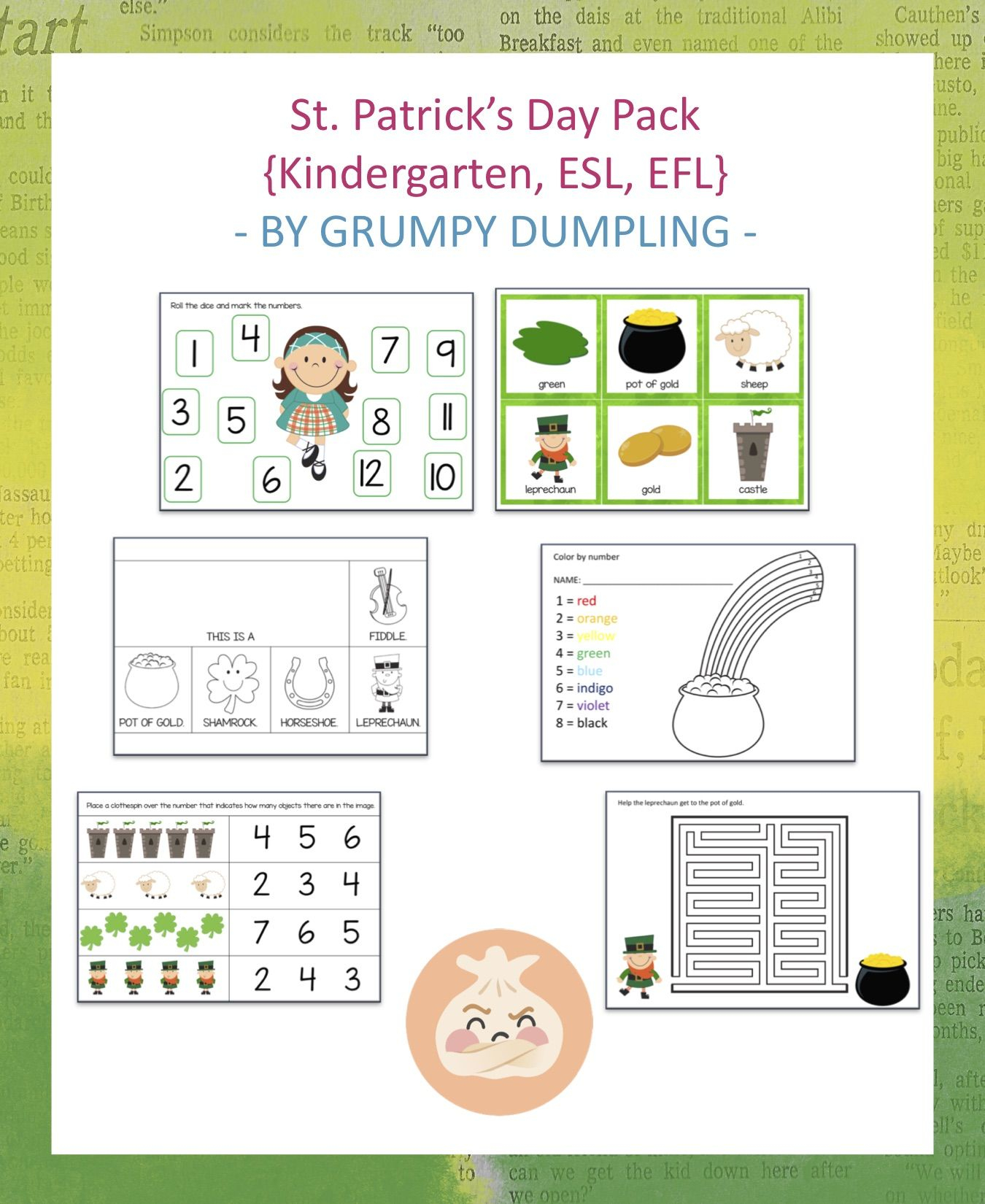 St. Patrick's Day Activity Pack (+80 Pages) | Letter