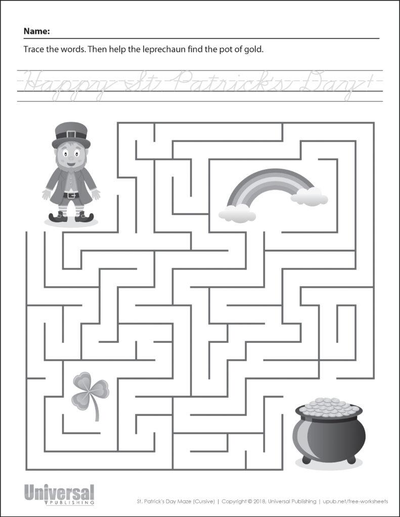 St. Patrick's Day | Free Printables   Universal Publishing Blog